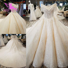 AIJINGYU Real Indonesia Muslim Gowns Cheap Vintage Country Shop Online Floral Customs Gown Sweden Country Wedding Dress