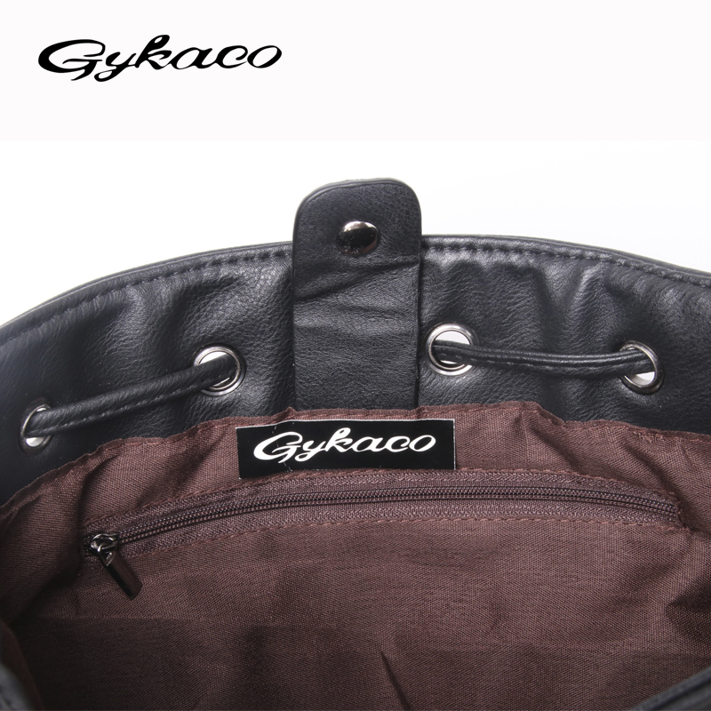 Gykaeo 2017 vrouwen emmer tas vintage klinknagel uitgehold crossbody - Handtassen - Foto 6
