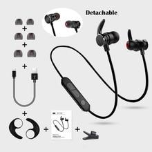 Bluetooth4.1 Magnetic Wireless earphone Stereo Bass In Ear Sport Bluetooth Earphone Running Hands free Headphone for samrt phone все цены