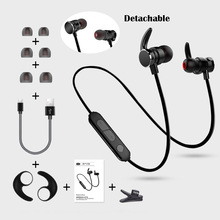Magnetic Wireless Bluetooth4.1 Stereo Bass In Ear Sport Bluetooth Earphone Running Hands free Headphone With mic for samrt phone цена