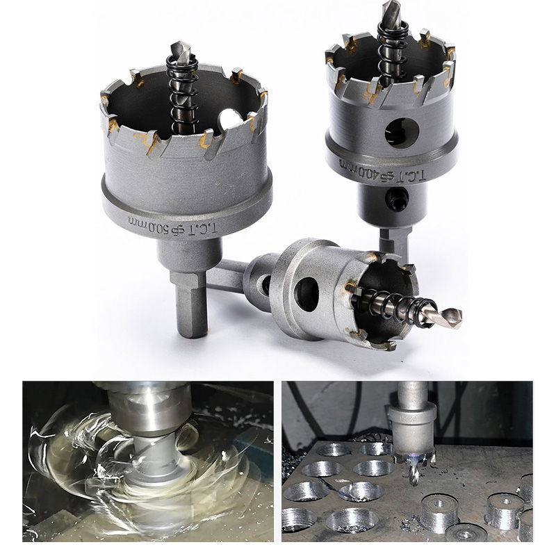 1Pcs 16-100mm K10 Carbide Tip HSS Drills Bit Hole Saw Cutter For Stainless Steel Metal Drilling Alloy Hole Saw Set