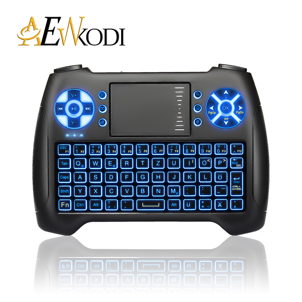 Anewkodi T16 Mini Backlit  Gaming Keyboard 2.4G Hz Wireless Fly Air mouse Touchpad for Android Smart TV Laptop PC PS3 free ship 2 4g mini wireless keyboard touchpad numeric keyboard charging switch screen for desktop laptop table