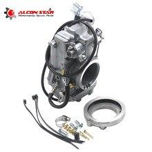 Alconstar-nova motocicleta carburador para mikuni tipo hsr TM42-6 42mm para harley evo & twincam modelos xlh883 xlh1100 xlrtt xlt