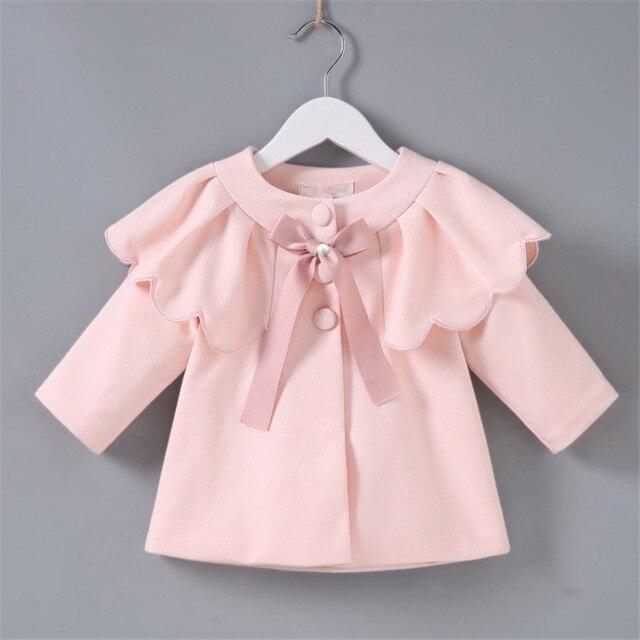 תינוק מעילי מעילי תינוקות בגדי 2018 חדש סתיו ארוך שרוול תינוק מעיל נסיכת ילדים הלבשה עליונה פעוט ילדה בגדים
