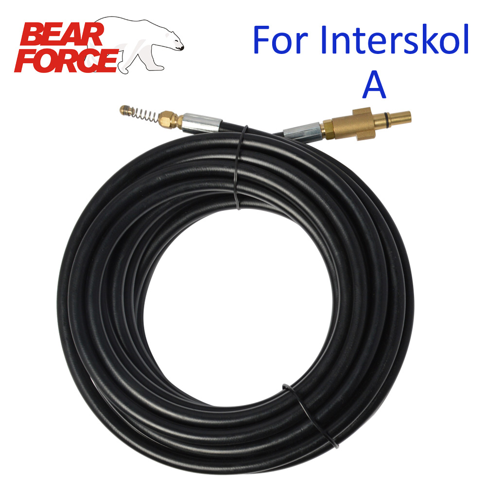 6m 10m 15m 20 Meters 160bar Car Washer Sewer Drain Water Cleaning Hose Pipe Cleaner For Interskol Interscol High Pressure Washer