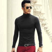 Autumn And spring New Clothes Men s Solid Color Bottoming Shirt Slim Stretch Lycra Cotton Long