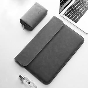 Image 2 - 2019 yeni mat PU deri kol Laptop çantası 15.6 14 macbook Air 13 için kılıf Pro Retina 11 12 15 xiaomi Mi dizüstü 12.5 13.3