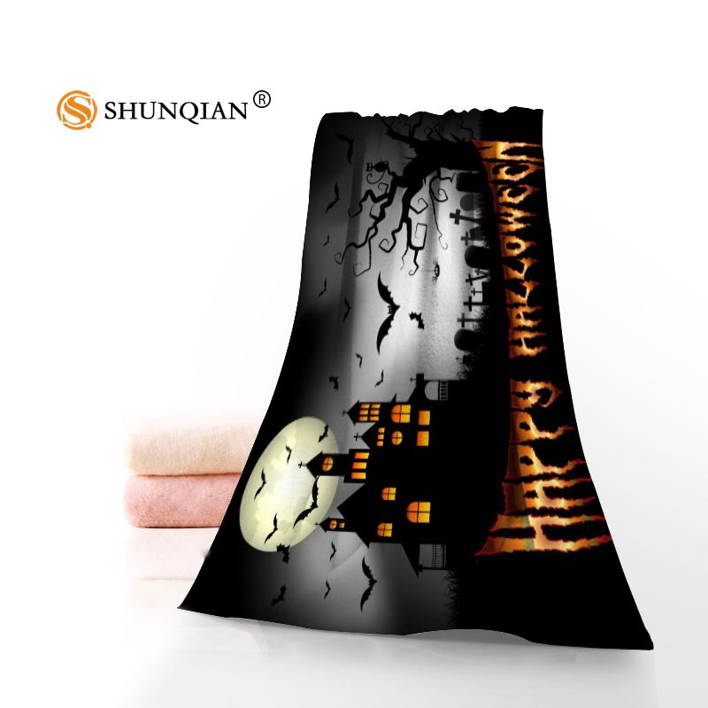 new arrival halloween face towelbath towel custom microfiber fabric towels size 35x75cm 70x140cm - Halloween Bath Towels