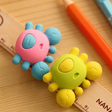 2 Pcs / Pack crab Rubber Eraser Lovely Cartoon  innovation Stationery Kids student stationery School Supplies Free shipping