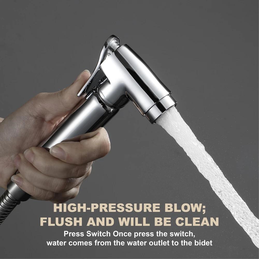 brass faucet toilet sprayer tap shattaf sprayer washing small shower head flush flushing clean bidets