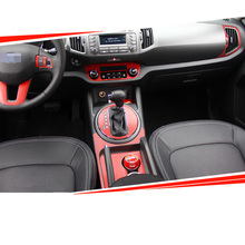 Car-Styling Brand New Car Interior Center Console Color Change Carbon Fiber Molding Sticker Decals For Kia Sportage R 2010-2016