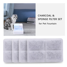 4PCS Activated Carbon Filters Charcoal Filter Replacement for Fountain for Cat Dog Pets Drink Water 1 piece of replacement pet charcoal filter for miele cat and dog sfaac30 sf aac30 s2000 s300 s6 s7 series vacuum cleaners