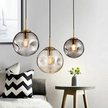 Nordic Pendant lights Glass pendant lamps for Kitchen living room bedroom Home lighting luminaria light Fixture globe Hanglamp(China)