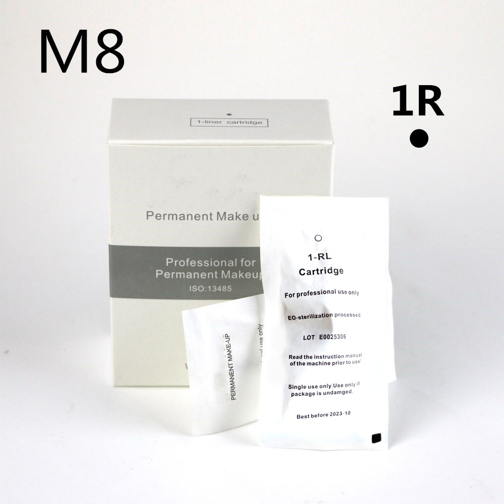 M8 30pcs 1RL Permanent Makeup Compact Needle for PMU M8 III M8 4th Machine Pen EO sterilization Processed Tattoo needles