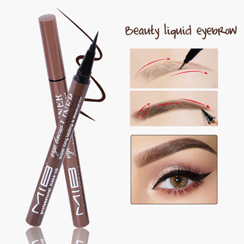 1pcs Professional Brown Color Waterproof Liquid Eyebrow Liner Pencils Natural Long Lasting Pigments Eye Brow Liner Pen Makeup