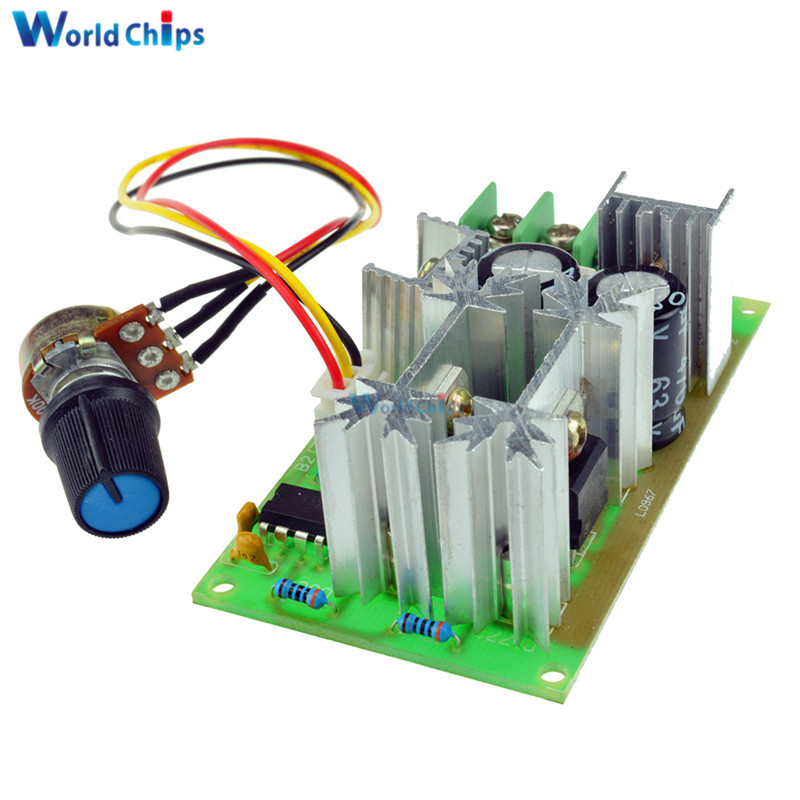 Well-Educated Dc10-60v Dc 10-60v Motor Speed Control Regulator Pwm Motor Speed Controller Switch 20a Current Regulator High Power Drive Module Goods Of Every Description Are Available Integrated Circuits Active Components