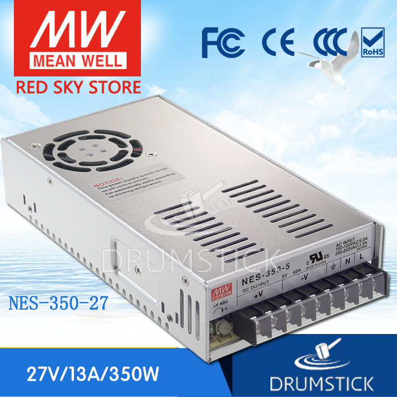 Hot! MEAN WELL original NES-350-27 27V 13A meanwell NES-350 27V 351W Single Output Switching Power Supply цена
