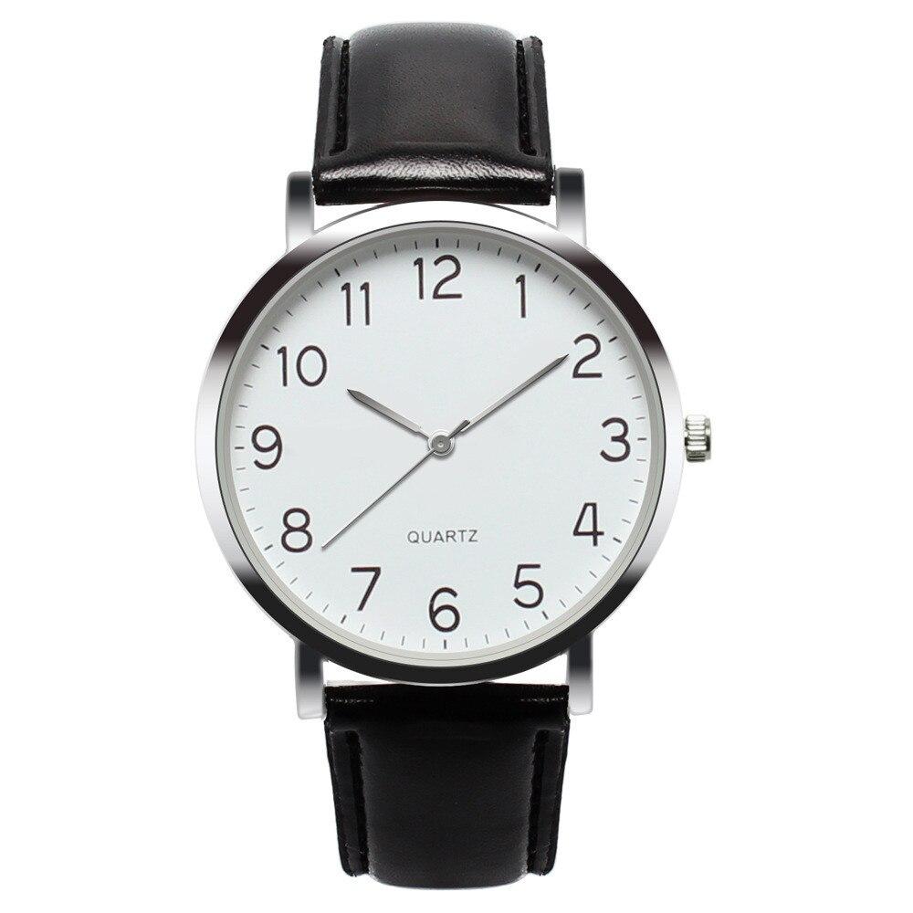 Saatleri2019 Unisex Simple Business Fashion Leather Quartz Wrist Watch Mens Watches Top Brand Luxury Best Gift Masculino Reloj@4