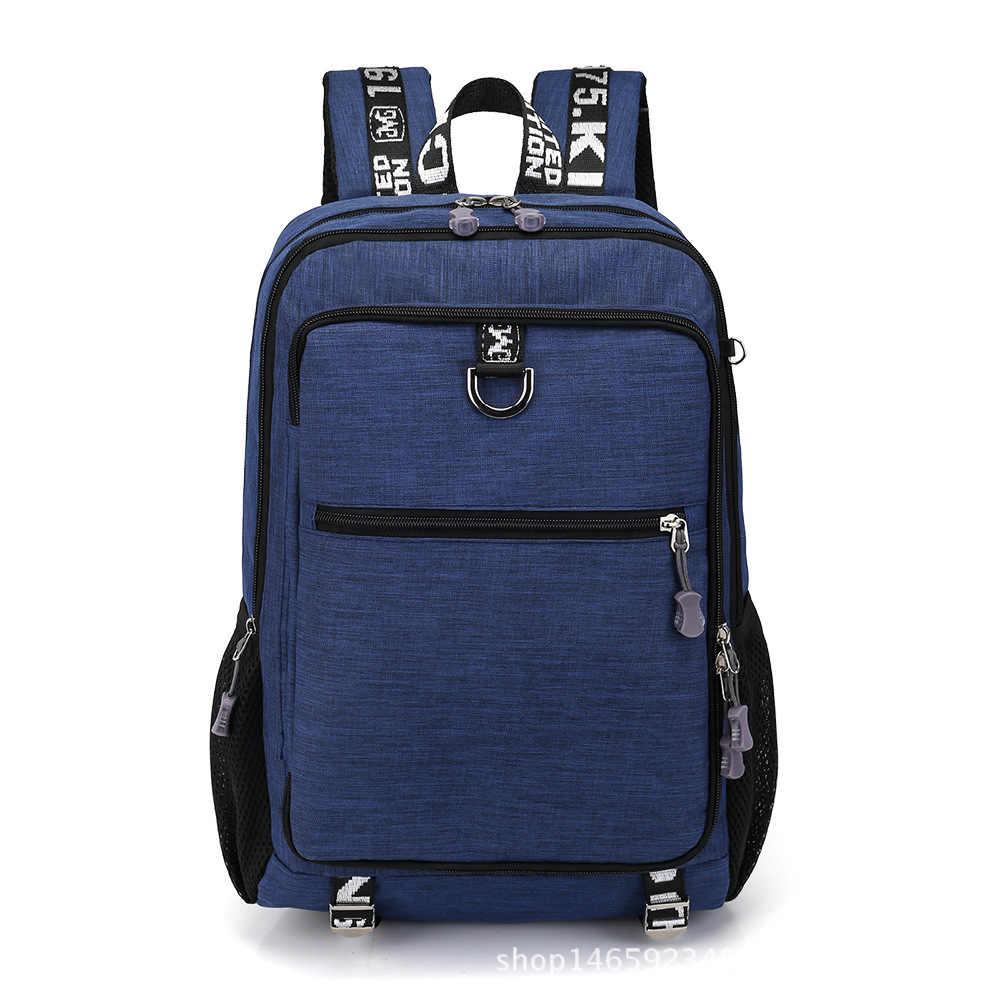 2019 Anti-theft USB 15.6 cal laptopa plecaki dla kobiety mężczyźni plecak szkolny torby książki dla chłopców dziewcząt mężczyzna podróży Mochila feminina