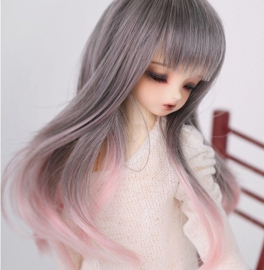 2018 New Style 1/6 6-7Bjd SD Doll Wig High Temperature Wire Fashion Style Wavy Super Dollfile For BJD Hair Wig new 1 3 bjd wig short straight hair doll diy high temperature wire for 1 3 dd bjd sd dollfie curly restoring ancient way