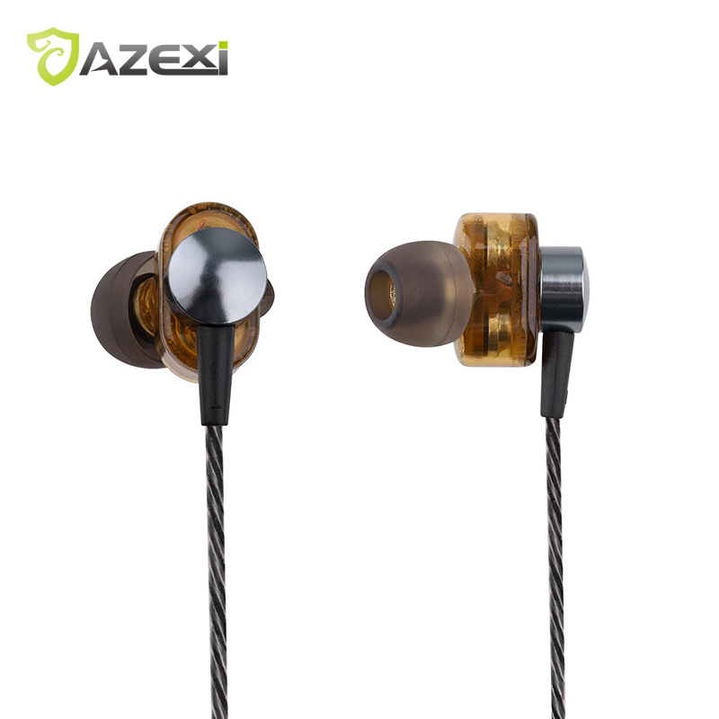 Azexi EP012 Bass in-ear headset Hi-Fi Stereo Sound With Mic Double Dynamic units earphone for iPhone 7 Huawei Xiaomi Nokia