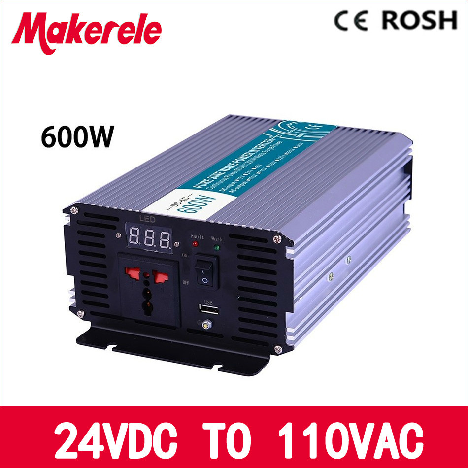 ФОТО MKP600 241 600w off grid pure sine wave pwoer inverter 24vdc 120vac power inverter, voltage converter,solar