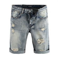 Summer Fashion Men Jeans Shorts Vintage Destroyed Ripped For Streetwear Hip Hop Denim DSEL