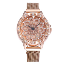 Creative time to run ladies magnet buckle Milan with quartz wrist watch female models