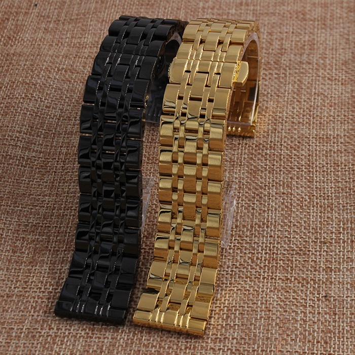 Watch Band Womens Men 14mm 16mm 18mm 20mm 22mm Black Gold Stainless Steel Watchbands Metal Watch