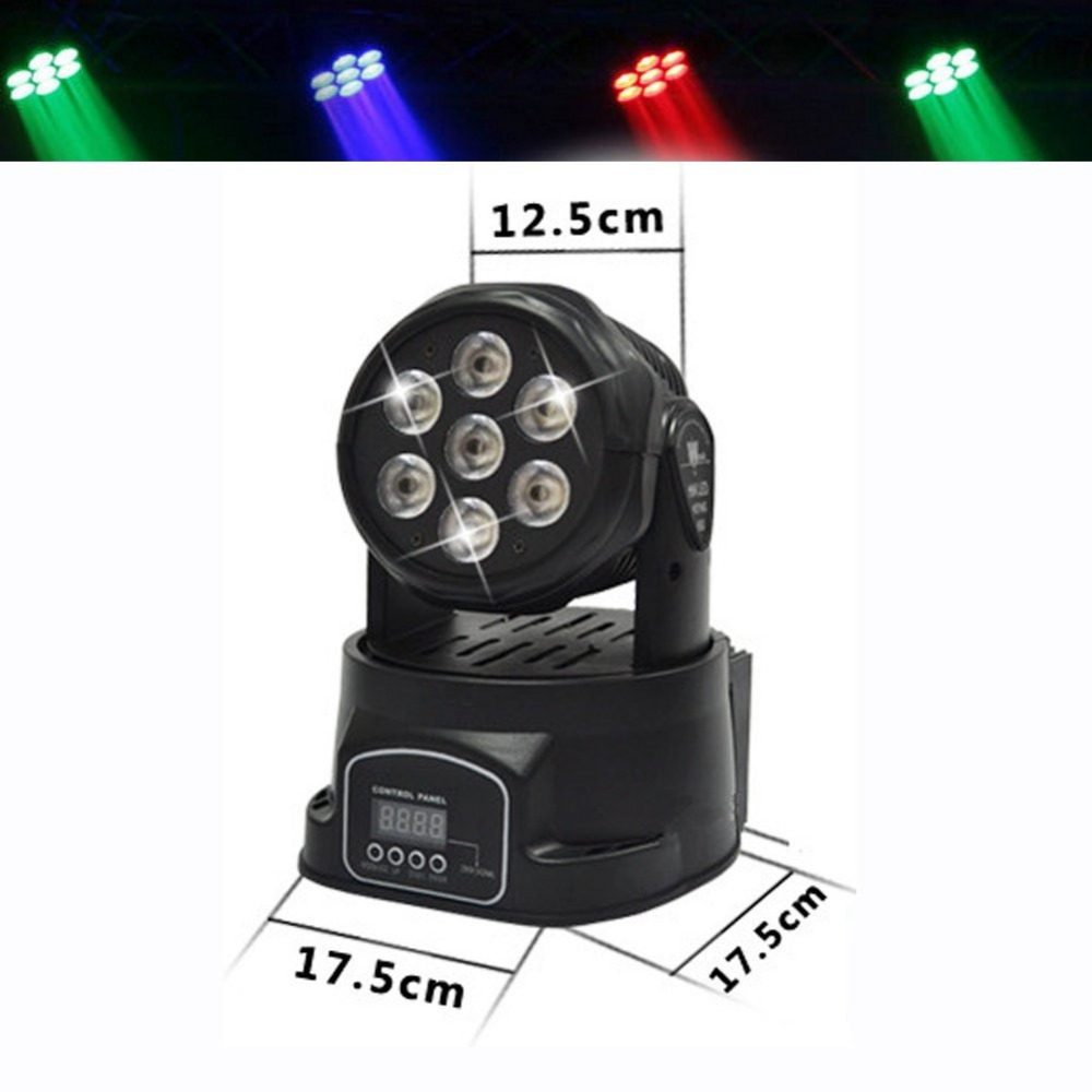 Fast Shipping LED Moving Head Mini Wash 7x12w RGBW Quad with advanced 14 Channels Free Shpping стоимость