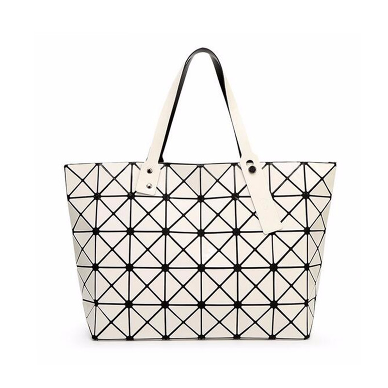 Trenadorab Fashion Women Handbag Pearl Bag Diamond Lattice Tote  Quilted Women Shoulder Bag Geometric Mosaic Top-handle bags Sac mesh open shoulder side ruched lattice top