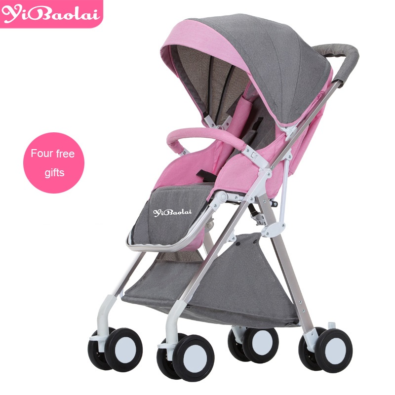 купить 2018 YIBAOLAI TOP Brand New Edition Ultra-light Weight Baby Stroller Folding 509 White Model Landscape Umbrella Baby Trolley по цене 9347.98 рублей