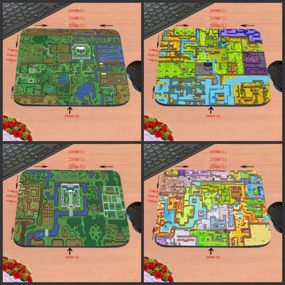 Mairuige New Arrival The Legend of Zelda Map Customized Support Gaming Rubber Mouse Pad Computer Notebook Non-Slip Mousepad