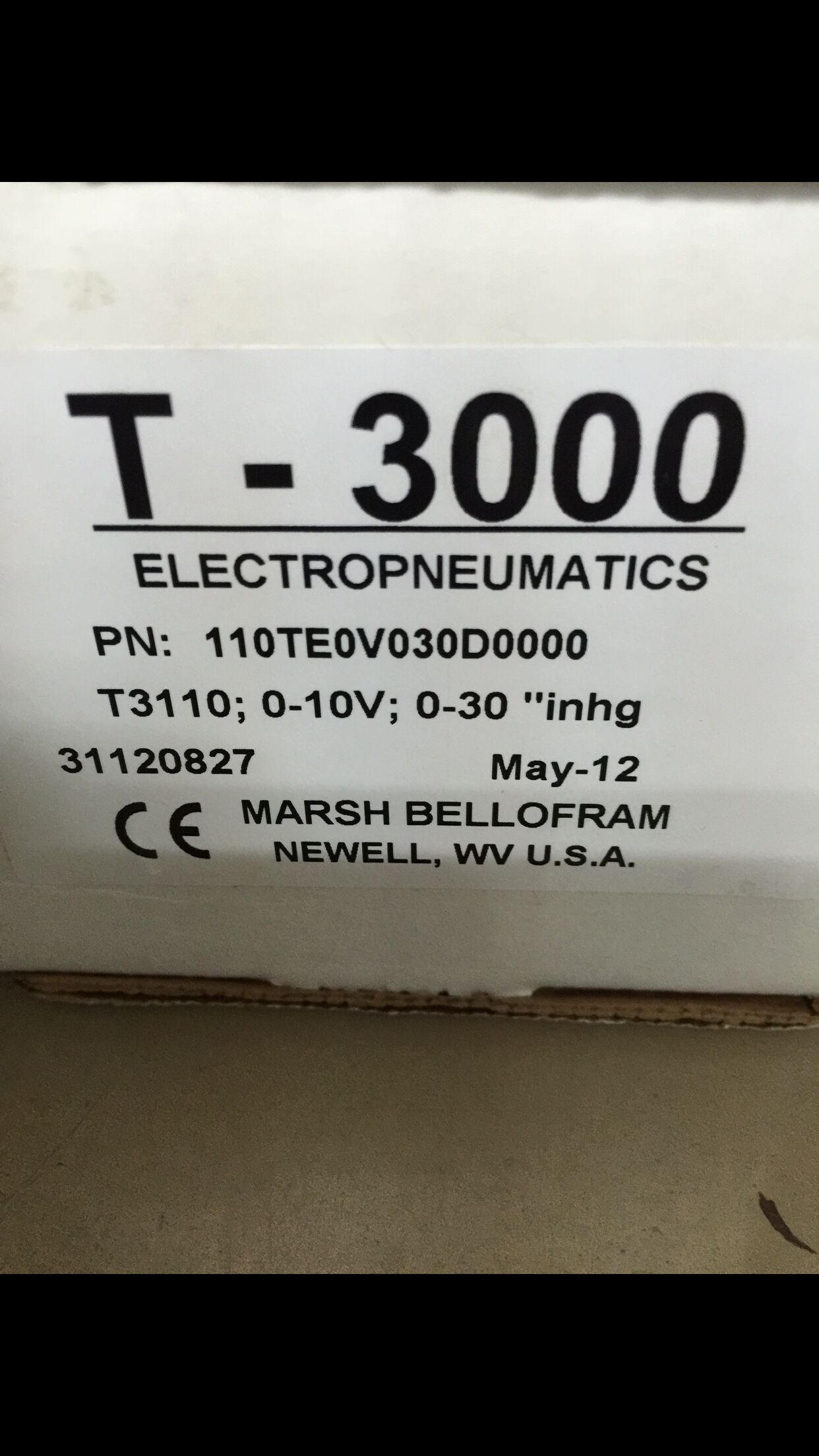 United States Bellofram electrical and electronic proportional valve 110TE0V030D0000 for high-precision vacuum control integrated geophysical and electrical depth slicing investigation