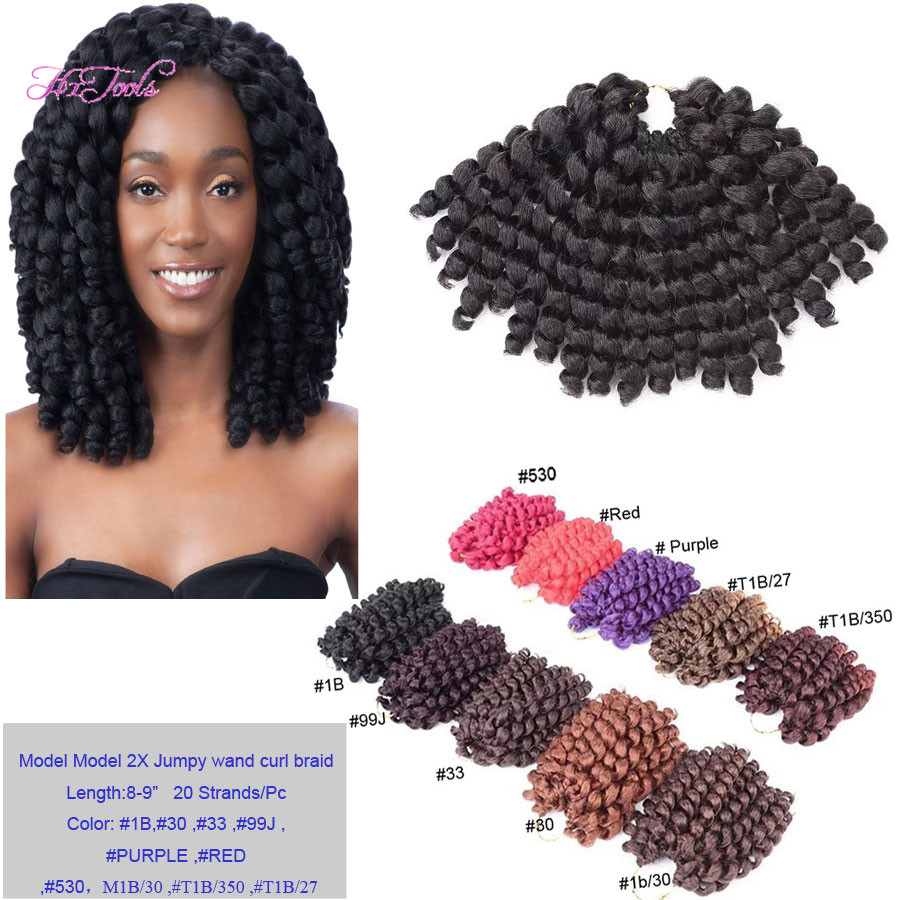 Wholesale Crochet Braids Model Glance Braid 2X Jumpy Wand Curl Crochet ...