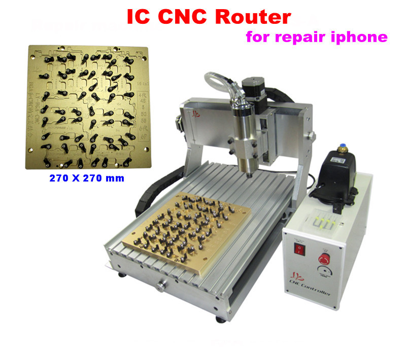 LY IC cnc router 3040 mould 10 in 1 CNC milling polishing engraving machine for iphone main board repair cnc 5axis a aixs rotary axis t chuck type for cnc router cnc milling machine best quality