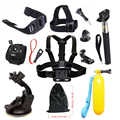 12 in 1 Accessories kit For GoPro Hero 5 4 SJCAM SJ4000 SJ5000 Chest Head Mount Strap Helmet Car mount Floating Selfie stick 28