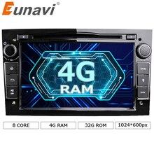 Eunavi Octa core android 6.0.1 4 ядра 1024*600 автомобиль DVD плеер для Opel Astra Vectra Антара Zafira Corsa GPS навигации Радио