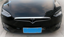Lapetus Car Styling Front Head Hood Bonnet Strip Engine Cover Trim 1 Piece ABS For Tesla Model X 2016 2017 2018