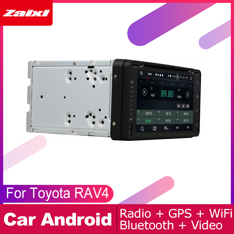 ZaiXi 2 DIN Auto DVD Player GPS Navi Navigation For Toyota RAV4 2000 2005 Car Android Multimedia System Screen Radio Stereo in Car Multimedia Player from Automobiles Motorcycles