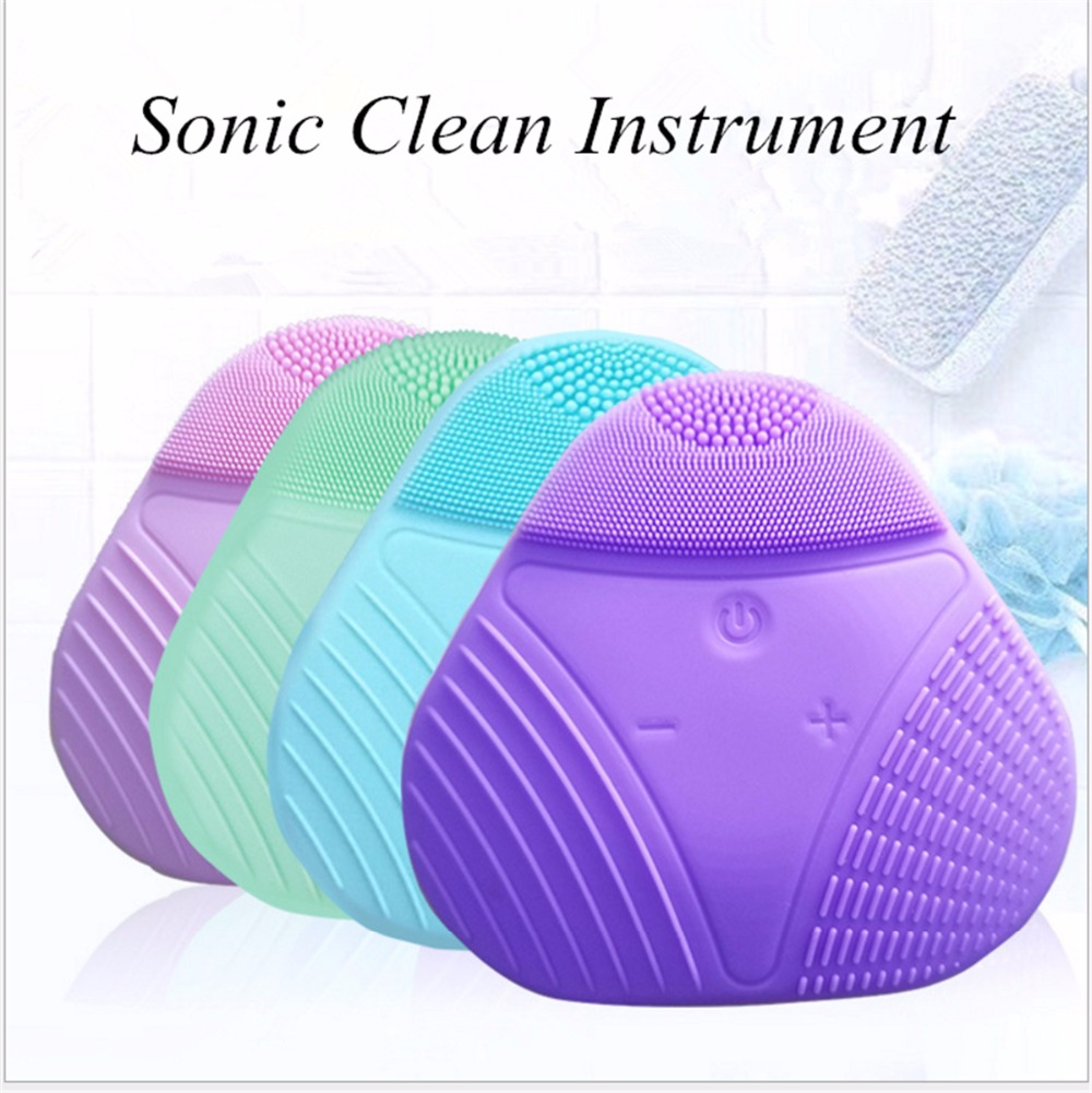 Hot Cleanser Electric Silica Gel Wash Face Ultrasonic Cleaning Facical Brush Beauty Charge Waterproof Clean Pore Device xpreen electric pore vacuum cleanser