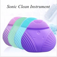 Hot Cleanser Electric Silica Gel Wash Face Ultrasonic Cleaning Facical Brush Beauty Charge Waterproof Clean Pore Device