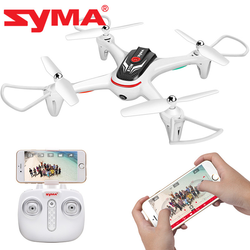 Syma X15W 4 Channel Wi Fi FPV Mobile App Control Quadcopters Quadcopter with Camera one key take off 3D Roll RTF drone in RC Helicopters from Toys Hobbies