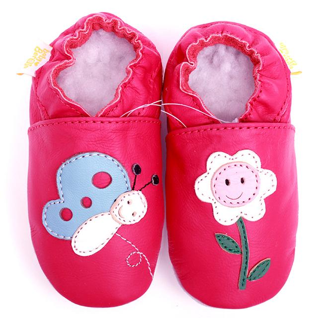 Zapatos de Bebé recién nacido Primer Caminante Zapatos de Bebé Niñas Mocasines de Cuero Mariposa Suave Deslizador Niña Niño Niños Zapatos Calzado Infantil