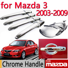 Для Mazda 3 2003-2009 принадлежности BK хромированные дверные ручки Axela 2004 2005 2006 2007 2008 седан хэтчбек Стикеры стайлинга автомобилей