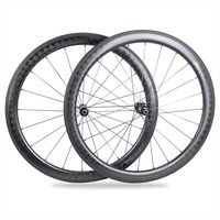 50mm Clincher 27mm wide, U Shape with (Black) Sapim CX Spoke carbon road bike wheelset