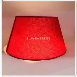 E27 Современная абажур для маленьких настольная лампа ПВХ Выкройка текстильной ткани декоративные красный и золотой Серебряная лампа тени