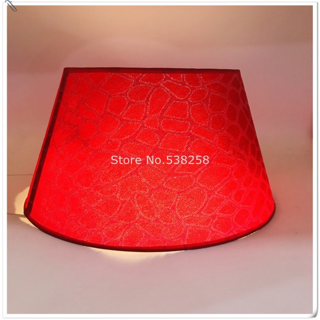 E27 modernos pantalla para habitación de bebé lámpara de mesa patrón de pvc tejidos decorativos rojo y oro lámpara de plata sombra