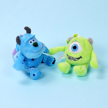 Cute Plush Monsters Inc. Monsters University Mike Wazowski Sully Keychain Action Figure Model Toys Dolls Gift Key rings