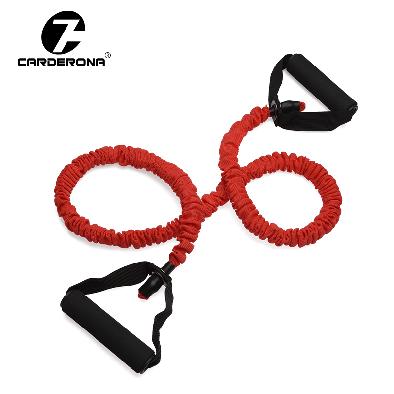 CARDERONA Fitness Resistance Bands Resistance Rope Exerciese Tube Elastic Exercise Bands for Yoga Pilates Workout Lose weight